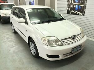 2004 Toyota Corolla ZZE122R Ascent White 5 Speed Manual Wagon Hobart CBD Hobart City Preview