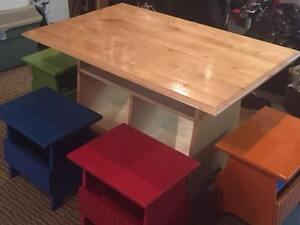 large children's table and chairs