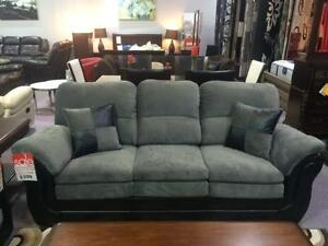 BRAND NEW CANADIAN MADE 3 PC SOFA, LOVESEAT & CHAIR FREE TABLET
