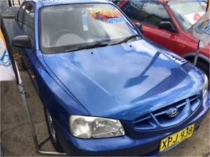 2001 Hyundai Accent LC GL Blue 4 Speed Automatic Hatchback West Ryde Ryde Area Preview