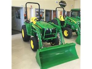 New 2015 John Deere 3038E Tractor with Loader and Pallet Forks