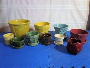 Antique Plusieurs Pots à Fleurs McCoy au Choix