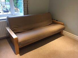 FUTON 3-seater sofa bed solid oak