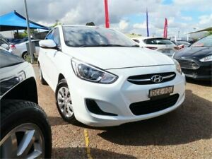 2015 Hyundai Accent RB3 MY16 Active White Constant Variable Sedan Minchinbury Blacktown Area Preview