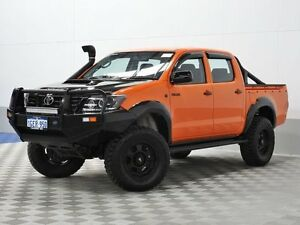 2013 Toyota Hilux KUN26R MY14 SR (4x4) Orange 5 Speed Automatic Dual Cab Pick-up Morley Bayswater Area Preview
