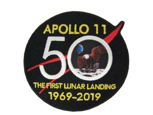 """NASA Apollo 11 50th Anniversary Moon Lunar Landing Space Official 4"""" Patch New"""