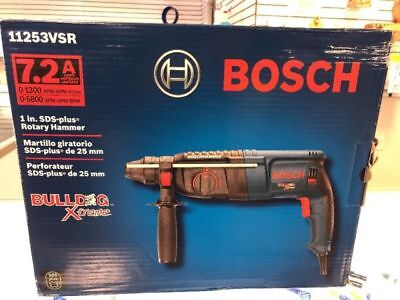 New Bosch 11253vsr Rotary Electric Hammer Drill Kit 1 Sds Plus Bulldog Xtreme
