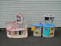 little tykes kitchen and barbie house