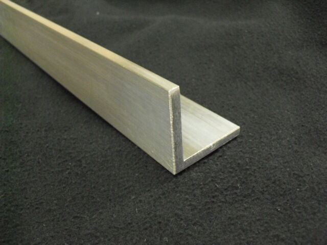 "1/4"" Aluminum Angle 2"" x 2"" x 24"" long architectural 6063 Mill Finish"