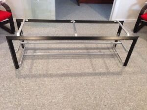 Large modern TV stand - Excellent Condition 3 Glass shelves