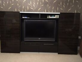LARGE IKEA BESTA TV UNIT WITH 2 DRAWERS, SHELVING and STORAGE CABINETS WITH SLIDING DOORS!!