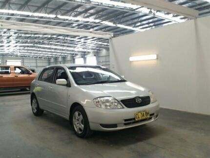 2003 Toyota Corolla ZZE122R Conquest Seca Silver 5 Speed Manual Hatchback