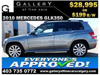 2010 Mercedes GLK 350 4Matic $199 bi-weekly APPLY NOW DRIVE NOW