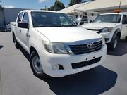2011 Toyota Hilux GGN15R MY12 SR White 5 Speed Automatic Dual Cab Pick-up Canley Vale Fairfield Area Preview