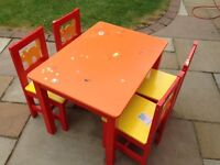 Much loved Ikea kids table and 4 chairs