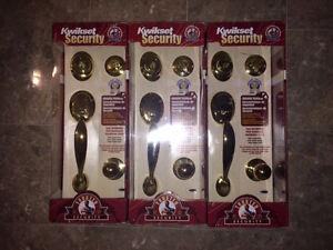 BRAND NEW - AMAZING DEAL on Kwik-Set Brass Door Hardware!!!