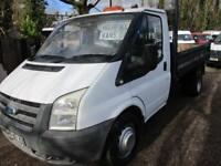 2007 Ford Transit 2.4TDCi SINGLE CAB TIPPER 350 LWB NO VAT