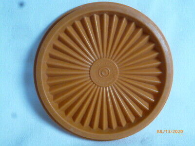 Tupperware 812 Replacement Lid Burnt Orange Sunburst Lid