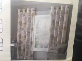 NEXT Floral Curtains (2 Pairs) **BRAND NEW IN PACKET**