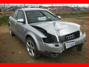 2003 AUDI A4 1.8L QUATTRO AWD FOR PARTS ONLY.
