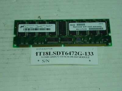 Mt18lsdt6472g 133B1 Micron Technology  Inc  512Mb 64Mx72 Synch Dram Module