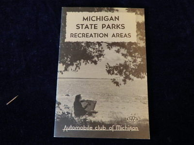 Vintage Aaa Michigan State Parks Recreation Areas Travel Tourist Brochure Q422