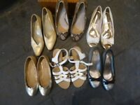 6 Pairs of Ladies Shoes size 3 . Some New and some worn a few times