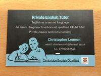 CELTA qualified English one-to-one tutor