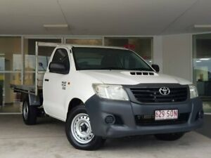 2012 Toyota Hilux KUN16R MY12 Workmate 4x2 White 5 Speed Manual Cab Chassis Brendale Pine Rivers Area Preview