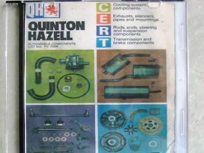 QUINTON HAZELL FULL CLASSIC CATALOGUE ON CD  c1970