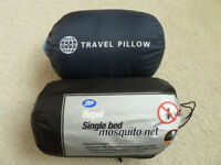 Travel Pillow and Mosquito Net