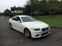 BMW 520D M SPORT 2011 F10 NEW SHAPE++ALPINE WHITHE++TOP SPEC++FHS++RARE MANUAL++