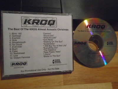 RARE PROMO KROQ CD Almost Acoustic CHRISTMAS Blink 182 RADIOHEAD No Doubt LIVE ! ()