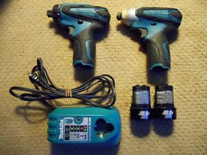 Makita 10.8/12v Li-Ion Impact Drivers