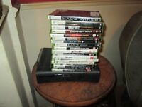 X-box 360 plus 16 games