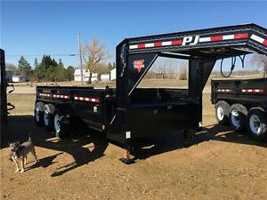 "16' x 83"" Low Pro XL Dump Trailer (DJ)"