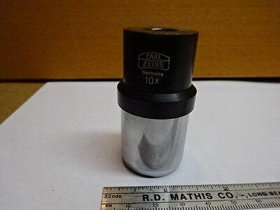 Microscope Part Carl Zeiss Ocular Eyepiece Germany 10x Optics As Is 81-26