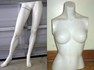 FEMALE MANNEQUIN PARTS-2 LOWER BODY-1 UPPER USED