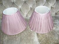 Laura Ashley silk Amerthyst 16 inch lamp shades ( 2 )