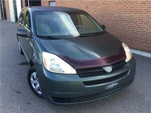 Toyota Sienna CE 2004,AUTO,6 CYL,AC,DEMARREUR,7 PASSAGERS!