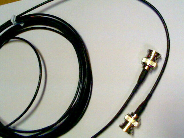 50 ft     BNC plug  TO  BNC plug   RG-174  coax  cable   50 ohm  (male to male)