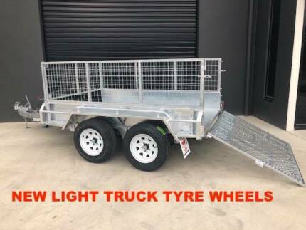8x5 TANDEM RAMP BOX TRAILER HOT DIP GALVANISED WITH 600MM CAGE Heathmont Maroondah Area Preview