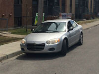 2005 Chrysler Sebring Sedan 4cyl 2.4L engine COLD AC good on gas