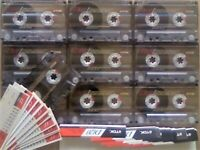 JL CHEAPEST ONLINE 10x TDK D 120 D120 CASSETTE TAPES 1990-1991 W/ CARDS CASES LABELS ALL VGC