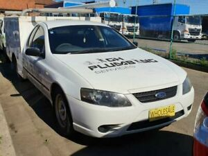 2008 Ford Falcon BF MkII XL (LPG) Tradesman White 4 Speed Auto Seq Sportshift Utility Granville Parramatta Area Preview