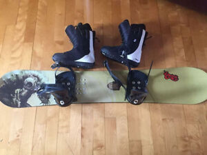Ensemble SNOW K2 illusion et Bottes Forum gr12