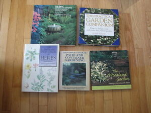 gardening books $5 each