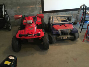 For sale both, Jeep and Quad 12 Volt Battery