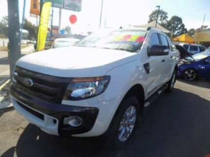 2012 Ford Ranger PX Wildtrak Double Cab White 6 Speed Manual Utility Moorooka Brisbane South West Preview