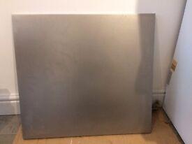 Brushed Stainless (matt sanded) Steel Kitchen Splash back